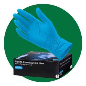 SereneLife Nitrile Disposal Gloves