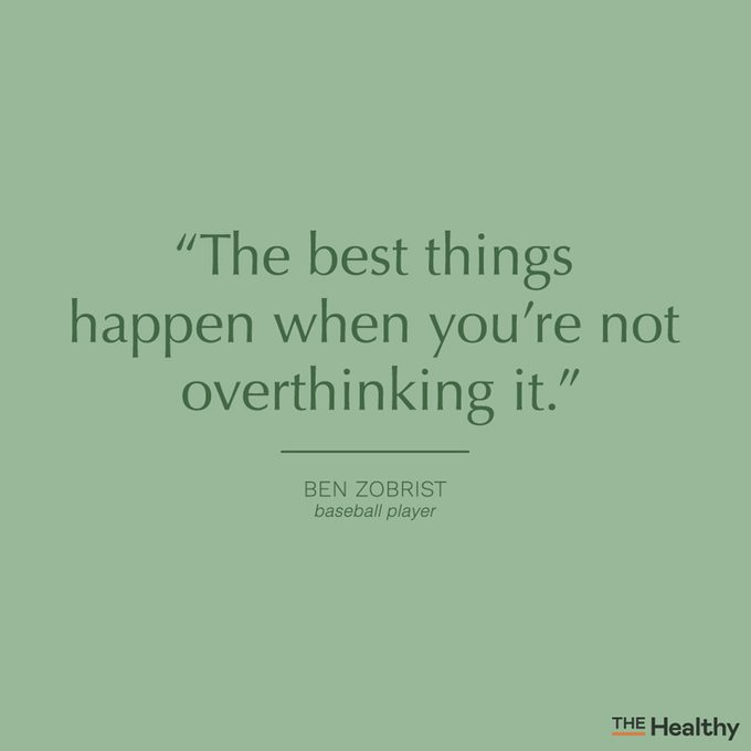 overthinking quote card