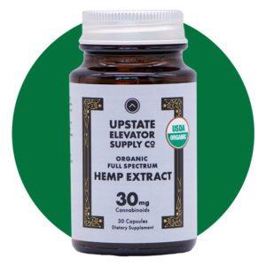 Upstate Elevator Supply Co Organic Full Spectrum CBD Capsules