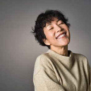 Studio Portrait of Middle Aged Japanese Woman