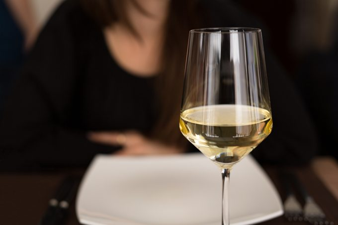 A glass of white wine to start with