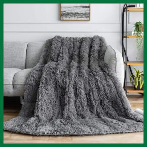 Buzio Shaggy Faux Fur Weighted Blanket