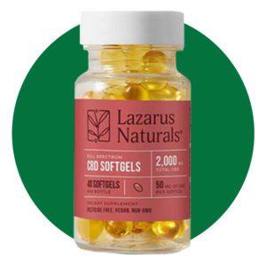 Lazarus Naturals 50mg CBD Softgels