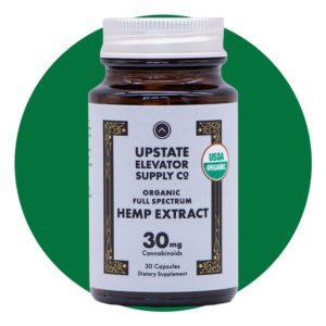 Upstate Elevator Supply Co 30mg Organic Full Spectrum CBD Capsules