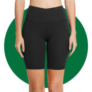 Baleaf Womens High Waist Biker Shorts