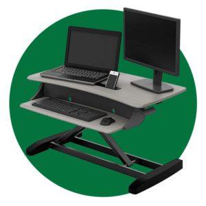 Ergotron Workfit T Sit Stand Desktop Workstation