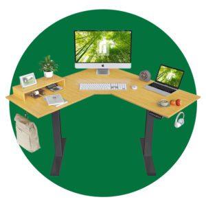 Fezibo L Shaped Electric Standing Desk