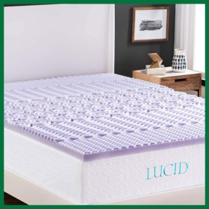 Lucid 2 Inch 5 Zone Lavender Memory Foam Mattress Topper