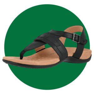 Vionic Womens Lupe Flat Sandal