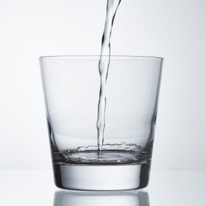 water being poured into glass