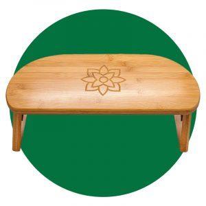 Bamboo Folding Meditation Bench With Bonus Travel Bag