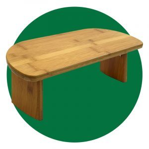 Bean Products Bamboo Meditation Table Bench