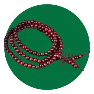 Buddhist Red Sandalwood Mala Bracelet