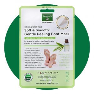 Earth Therapeutics Soft And Smooth Gentle Peeling Foot Mask