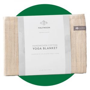 Halfmoon Melange Cotton Yoga Blanket