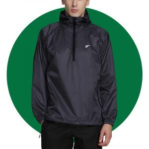 Mens Ez Run Waterproof Hooded Rain Jacket