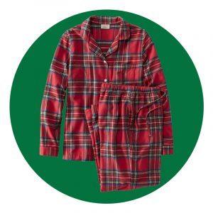 Womens Scotch Plaid Flannel Pajamas