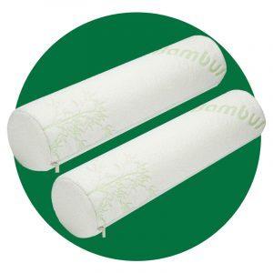 Allsett Bamboo Cervical Neck Roll Memory Foam Pillow