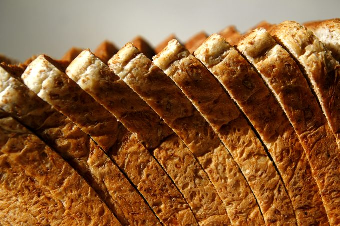 Close-Up Of Bread Slices