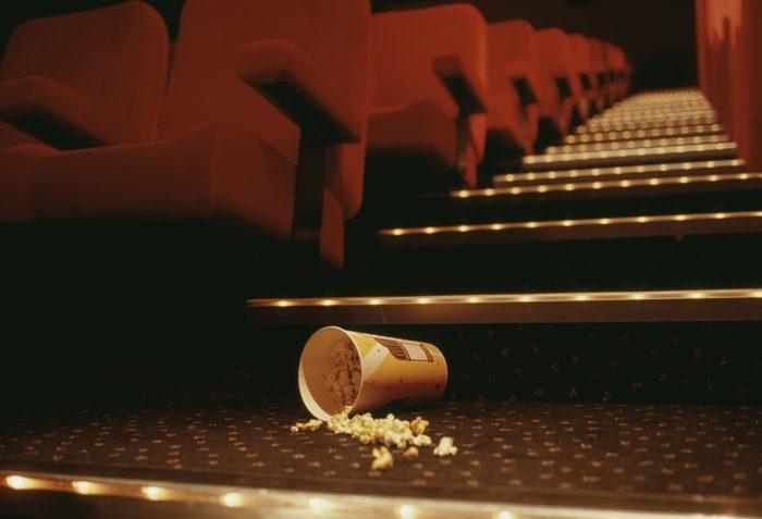 Popcorn in Theater Aisle