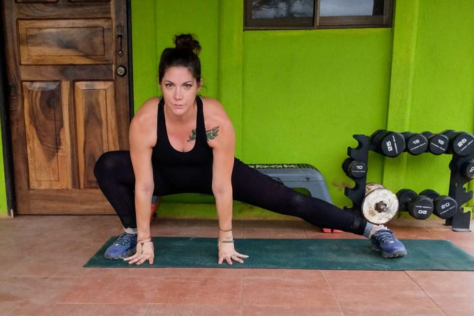 lateral lunge exercise