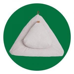 Project Full Moonstone Grey Meditation Cushion Set