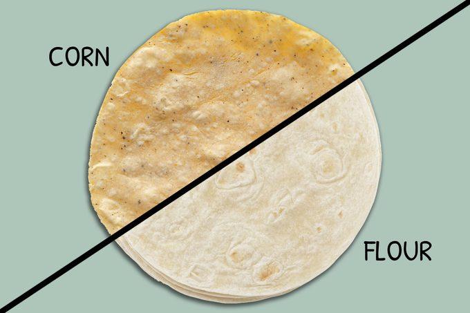 Corn Vs Flour Tortilla Split Screen
