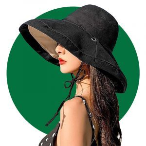 Caistra Womens Sun Hat Packable Reversible Bucket Hat Uv Sun Protection Wide Brim Hat