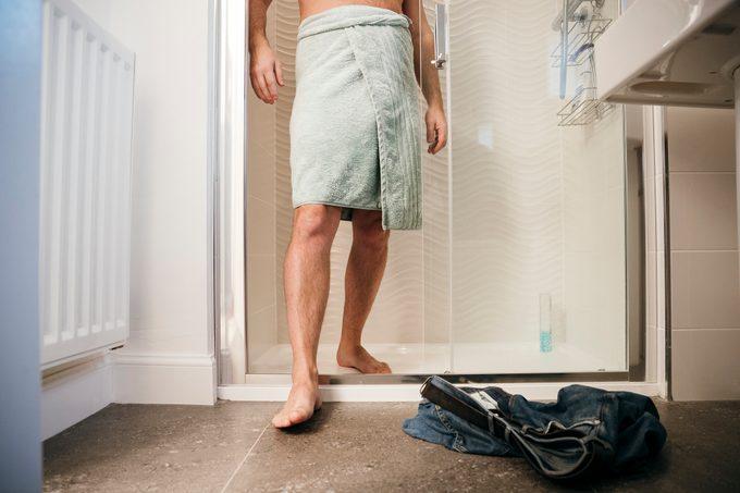 Man Having a Shower