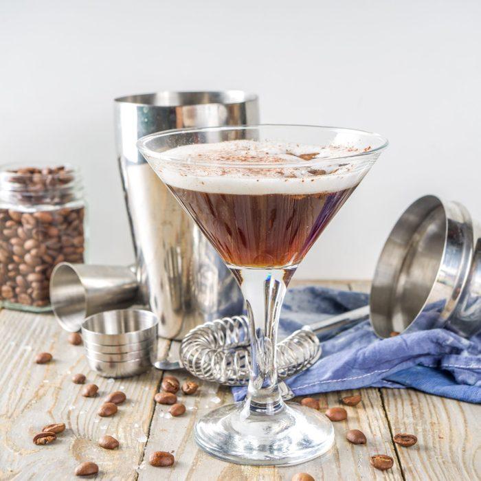 Homemade Espresso Martini Cocktail