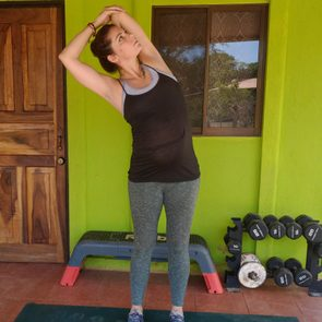 Triceps Stretch With Side Bend
