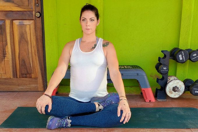 Half Lotus Stretch For Glutes