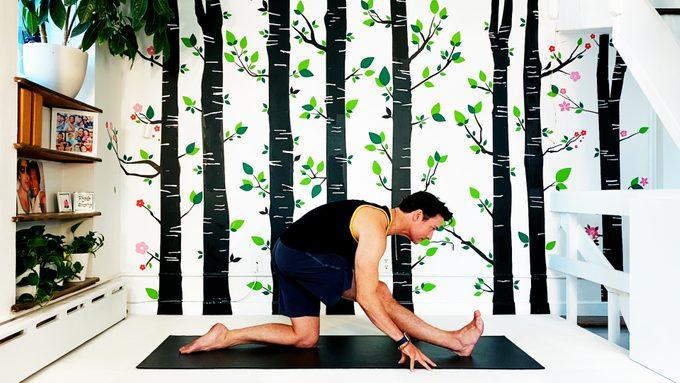 half splits yoga pose
