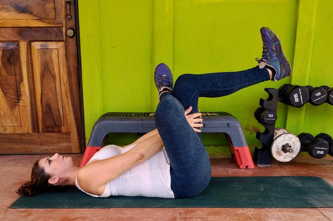 Supine Figure 4 Stretch For Glutes