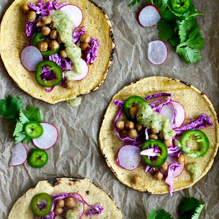 Cumin Chickpea Tacos Sara Haas