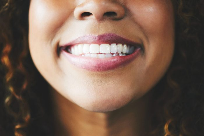 close up of woman's smile
