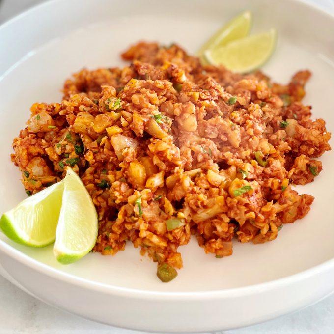 Mexican style cauliflower rice
