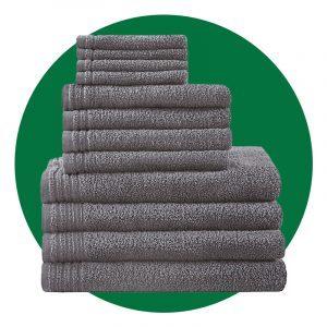 510 Design Big Bundle 12pc Quick Dry Solid Bath Towel Set